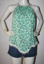 dgoodthings:new Divided by H&M mint green lace V-hem halter  top(size EUR 40)