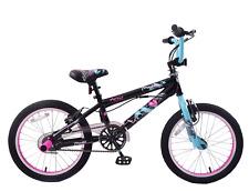 "Kent Trouble Maker 18"" Wheel BMX Bike Girls 360 Gyro Rotor Stunt Pegs Black/Pink"