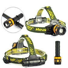 3000lm XML T6 LED Zoomable Headlamp Torch Flashlight Rechargeable Bicycle Light