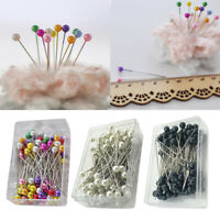 100pcs Glass Round Pearl Head Pins Multicolor Sewing Needles Pins DIY Crafts GEM