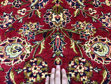 New listing 10x14 Red Vintage Rug Hand-Knotted Wool antique oriental woven handmade carpet