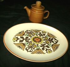 """NICE LANGLEY DENBY CANTERBURY SMALL TEAPOT AND 11"""" OVAL SERVING TRAY-NICE !!"""