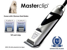 Old English Sheepdog Dog Clippers Set with 2 German Steel Blades by Masterclip