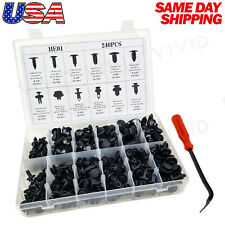 240pc Plastic Rivets Fender Bumper Push Pin Clips with Tool for Lincoln Mercury