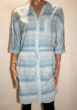 George Brand Blue White Striped Button Front Shirt Dress Size 12 #AN02