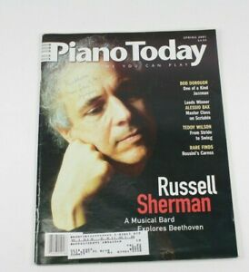 Piano Today Magazine Spring 2001 Issue Russell Sherman on Cover w/ Sheet Music