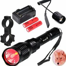 WindFire 350 lumens Red Hunting Light Kit Flashlight with Remote Pressure Switch