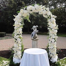 """95"""" Metal Garden Arbor Arch Door Wedding Party Prom Outdoor Yard Floral Decor"""