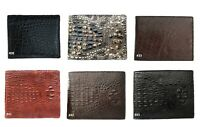 Leather Wallet Genuine Alligator Crocodile Skin Men Bifold Wallet Exotic Animal