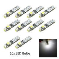10X 6000K 58 70 73 74 T5 Dashboard Gauge 3 3528 SMD LED Wedge Bulb Light White.