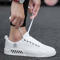 Low Top Mens Womens Unisex Tops Trainers Breathable Shoes Linen Canvas Size6-8.5