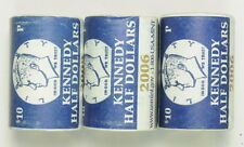 Lot Of 3 2006 P 2009 P Kennedy Half Dollars .50 Cent US Mint Coin Rolls