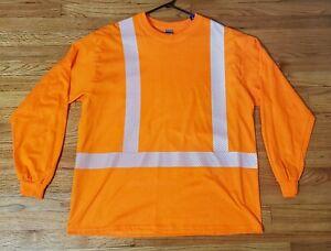 NEW - Hi Vis Reflective ANSI Class 2 long sleeve work shirt - XL