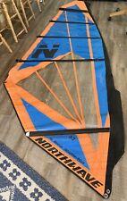 NORTHWAVE 3.7 Meter Custom Windsurfing Sail Wind Surf Blue/Orange + Shoulder Bag