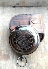 Antique Beautiful Nautical Royel Navy London- 1915 Authentic Compass With Case