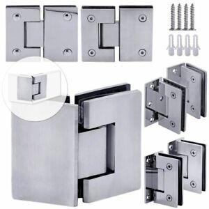 Porte Di Vetro Cerniera Cardine Box Doccia Porta Bagno Acciaio Opaco o Brillante
