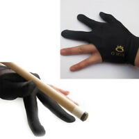 1PC Useful Black Spandex Snooker Billiard Cue Glove Pool Left Hand Three Finger