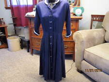 TRUE VINTAGE 30's,40's navy,mohair,handmade? xs small,petite dress,womans
