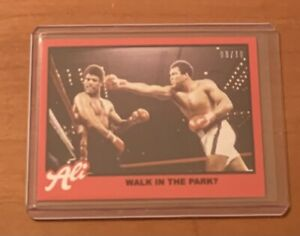 2021 TOPPS MUHAMMAD ALI #68 WALK IN THE PARK? - NUMBERED 9/10 RED PARALLEL