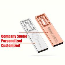 Creative Window Lattice USB Flash Drive Metal Hollow Bookmark Custom USB Logo
