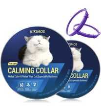 Adjustable Calming Collar for Cats and Small Dogs, Reduces Pets Anxiety