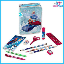 Disney Frozen Zip-Up Stationery Kit markers pencils scissors ruler eraser