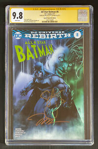 Signed 2x Jim Lee Scott Snyder CGC SS 9.8 All Star Batman 8 FanExpo Joker Batman