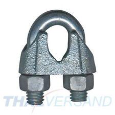 100 St Drahtseilklemmen 3mm DIN 741 Seilklemme Stahl Drahtseilklemme Seilklemmen