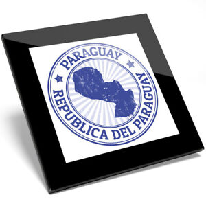 1 x Republic Del Paraguay Map Flag Glass Coaster - Kitchen Student Gift #4657