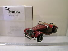TOP MARQUES AC4B M.G. MG TF SPORTSCAR OPEN 1954 MAROON BOX 1:43