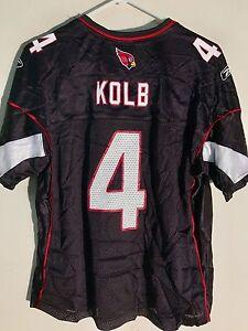 Reebok Women's NFL Jersey Arizona Cardinals Kevin Kolb Black sz XL