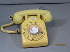 VINTAGE RETRO MUSTARD YELLOW AT&T ROTARY DIAL DESKTOP PHONE TELEPHONE