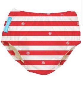 Charlie Banana Extraordinary Swim Diaper - Red Stripes - Small Gender Neutral