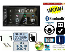 FOR TOYOTA & SCION USB Kenwood Bluetooth Stereo CD/DVD Double Din Dash Kit