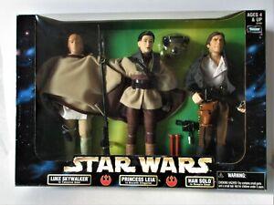 STAR WARS Tri-pack, LUKE SKYWALKER, PRINCESS LEIA, HAN SOLO, 30 cm Kenner