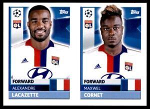 Topps CL 2016-17 LYO18/LYO19 Maxwell Cornet/Lacazette Olympique Lyonnais