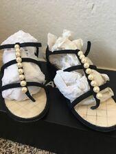 Chanel Lambskin Pearl Sandals