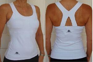 JIVANA* Designer Gym Fitness Yoga Sports Top Ladies womens XS,S,M,L,XL White *