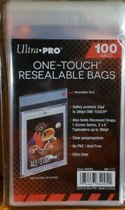 One Touch Resealable Bags 100ct - Ultra Pro # 84005 Team Bag for ONE TOUCH CASES