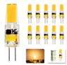 10x G4 6W LED Light Bulb AC DC 12V Undimmable warm white LED G4 COB Lamp Bulb