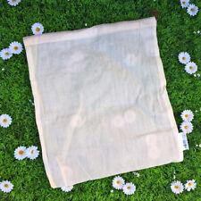 Sac à produit vrac en coton bio Zéro déchet taille L