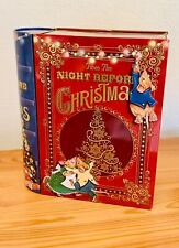 Twas the Night Before Christmas Book Shaped Biscuit Tin & Biscuits BN Sealed