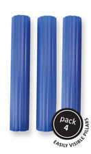 """PME 4pk 6"""" Blue Plastic Hollow Pillars Support Wedding Tiered Cake Dowel Rods"""