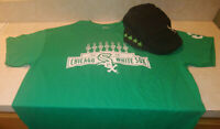 Chicago White Sox Irish Flat Hat & St. Patricks Day XL T Shirt SGA FREE SHIPPING