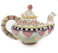 NEW MacKenzie-Childs TAYLOR TEAPOT - HITCHCOCK FIELD