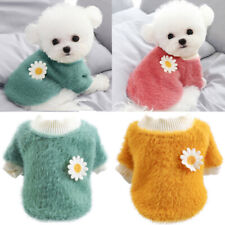 Plush Flowers Sweater Pet Dog Clothes Winter Warm Fleece Coat For Small Dogs Us