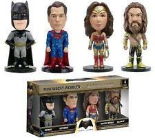 Marvel Batman VS Superman 4pc Set 8cm Mini Boxed Bobble Head Wacky Wobbler Funko