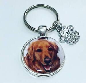Personalised pet photo keyring pet lover gifts  Dog keyring christmas gifts