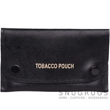 Mens 100% Genuine Leather Slim Tobacco Pouch / Holder Fully Lined