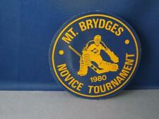 MOUNT BRIDGES MINOR HOCKEY TOURNAMENT 1980 PATCH VINTAGE ONTARIO SOUVENIR BADGE